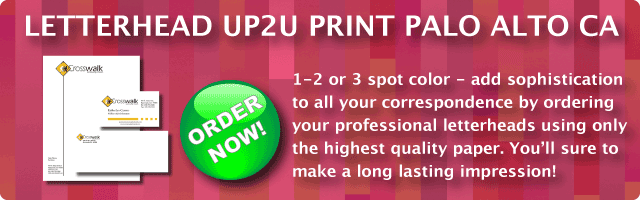 Letterhead and Envelopes - UP2uprint.com | Letterhead printing | 1-4 color PMS spot or full color printing