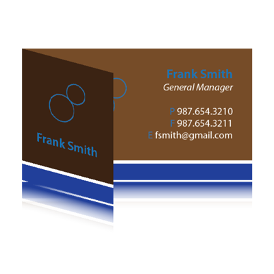 "Business Card Foldover 5"" x 2"" - Upload"