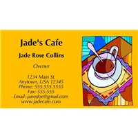Business Card - Cafe