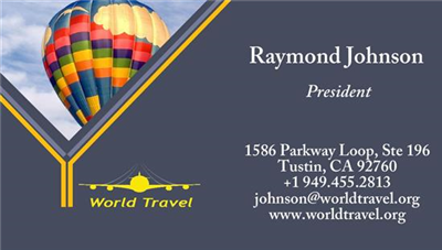Business Card - Travel