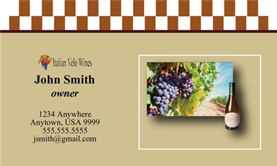 Business Card - Winery