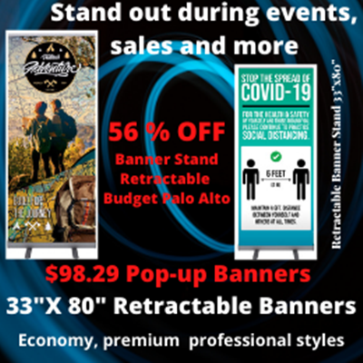 56% OFF Banner Stand Retractable Budget Palo Alto San Jose Bay Area