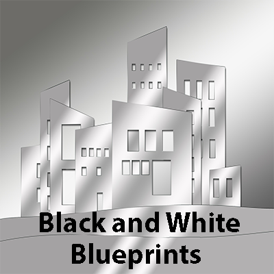 Black and White Blueprints